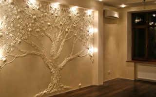 Изготовление лепнины на стену своими руками