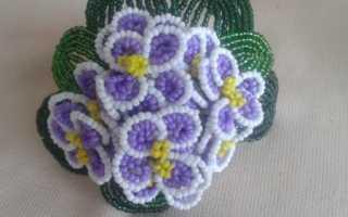 Схема плетения из бисера ожерелья «Весенние цветы»
