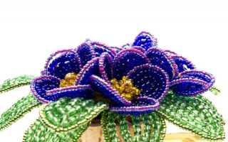 Французское плетение бисером: как плести округлые листья и лепесточки
