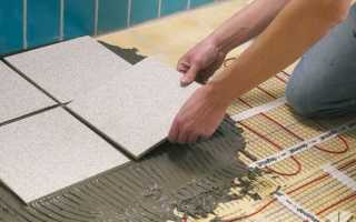 Выбор и монтаж теплого электрического пола под плитку