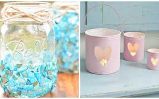 Что можно сделать из стеклянных банок: подсвечник и ваза своими руками