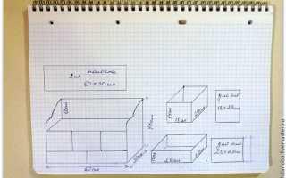 Комод из картона своими руками: мастер-класс с чертежами и схемами