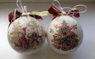Декор елочных шаров своими руками