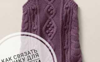 Туника для девочки спицами: схема вязания модели с жаккардовым узором