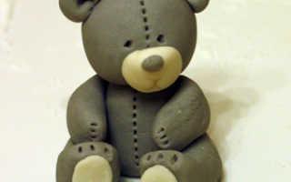 Мышка из мастики для детского торта