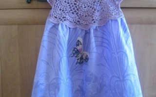 Круглая кокетка крючком: мастер-класс со схемами для детского платья