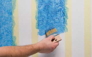 Как проводится покраска обоев под покраску своими руками