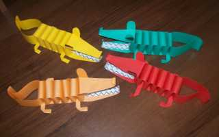 Поделка крокодил из бумаги: схема оригами для детей