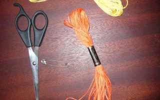 Изделия и украшения из макраме: готический браслет из ниток