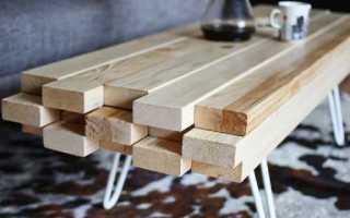 Изготовление стола из досок своими руками