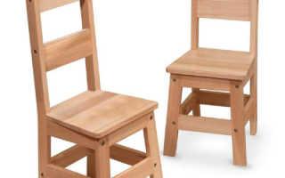 Деревянный детский стульчик своими руками: особенности монтажа