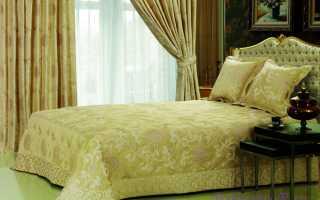 Комплекты для спальни: покрывало и шторы — как правильно подобрать?