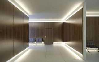 Выбор плинтуса с подсветкой для пола и потолка