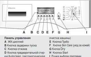 Что обозначают значки на панели стиральной машины