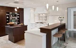 Стандарт высоты барной стойки на кухне