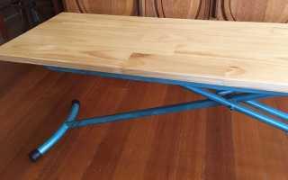 Стол для пикника своими руками из старой гладильной доски