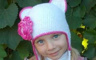 Зимние шапочки для девочек крючком со схемами