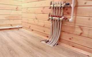 Водяной теплый пол в деревянном доме с деревянными перекрытиями