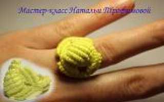 Кольцо Градиент в технике макраме