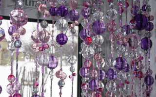 Хрустальные шторы, как новый способ придания оригинальности интерьеру