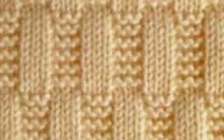 Рельефные узоры спицами со схемами и с описанием
