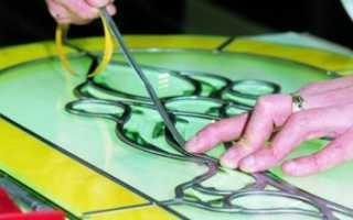 Как сделать витраж своими руками в домашних условиях из стекла