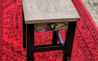 Как сделать столик из табуретки?